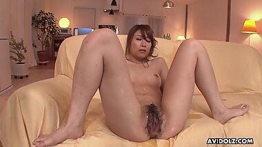 Japanese babe, Rika Aiba likes it with two men, uncensored