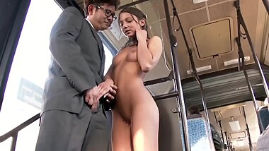 18 years old euro beauty try JAV first time with public sence